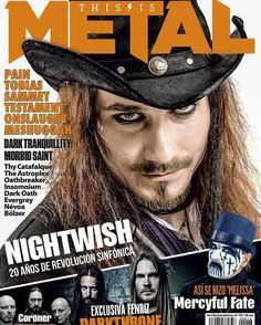 Tuomas Holopainen on the cover of ''This Is Metal'' magazine! http://thisisrock.net/yo-quiero-this-is-metal/ #nightwish #symphonicmetal  #tuomasholopainen #magazine