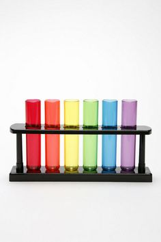 Rainbow Test Tubes :]  (okay, so they're shot glasses but I would just use them for decoration hah)