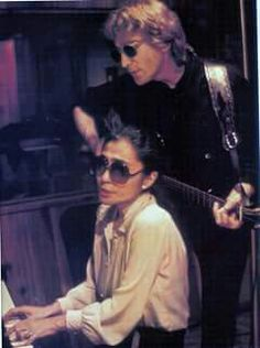 John and Yoko during the making of Double Fantasy in 1980.