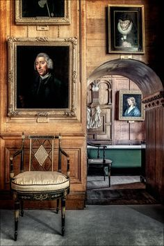 Burghley House - The South Closet.  The finest of Elizabethan houses, built for Sir William Cecil, Lord High Treasurer & closest advisor to Elizabeth I.