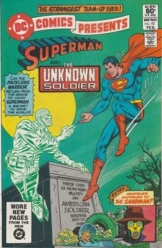 DC Comics Presents Vol. 5 No. 42 1982 Superman and the Unknown Soldier by TheSamAntics Comic Books For Sale, Vintage Comic Books, Vintage Comics, Justice Society Of America, Dc World, Unknown Soldier, Superman Family, War Comics, Batman And Superman