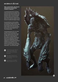 Creature artist João Fiuza reveals the ZBrush workflow behind some of his concepts in issue 108 of 3dcreative http://www.3dcreativemag.com/issues_2014/august/main.htm