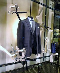 """Ermenegildo Zegna, London,""""Men's Tailor Cut suits"""",close-up, pinned by Ton van der Veer"""