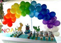 NOAH ARK baby shower TABLE DEOCRATIONS