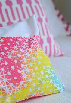 paint, grate, pouncers for an amazing pillow case