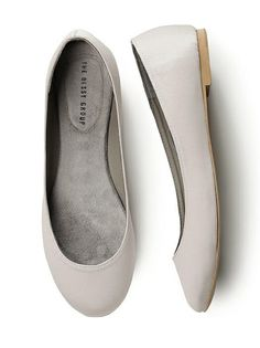 Simple Satin Ballet Wedding Flats http://www.dessy.com/accessories/simple-satin-ballet-flat/