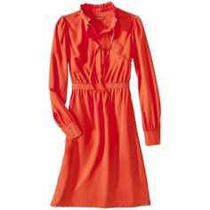 """I'd wear this with """"my"""" Pollini ElectricBlue boots!! (Merona® Women's Tie Front Dress - Assorted Colors)"""