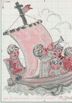"""Land In Sight"" Hommel cross stitch pattern, 1A"