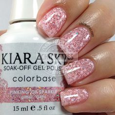 Kiara Sky Mirror Image Kollektion - Chickettes Natural Nail Studio & Boutique Source by Pretty Nail Colors, Gel Nail Colors, Pretty Nails, Powder Nail Polish, Powder Nails, Sky Nails, Sparkle Nails, Kiara Sky Gel Polish, Hot Pink Nails
