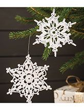 Ornamental Snowflakes Crochet Pattern