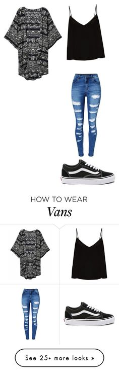 """Untitled #400"" by kaleyhanson on Polyvore featuring Raey, WithChic and Vans"