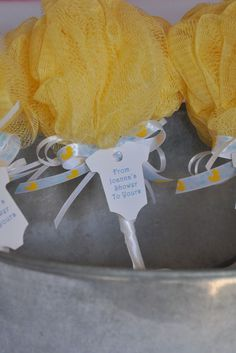 cute loofah baby shower favor
