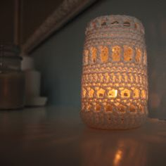 Another Sunday Girl: Crochet Jar Cover Candle Holders                                                                                                                                                                                 More
