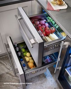 Rhode Island kitchen with True Residential 24 Refrigerator Drawers Kitchen Tops, Kitchen Pantry, Diy Kitchen, Kitchen Storage, Kitchen Appliances, Kitchen Organization, Kitchen Cabinets, Island Kitchen, Organization Ideas