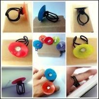 Colorful Cocktail Rings and Also a mobile phone holder