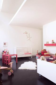 Modern nursery from Milk Magazine. Beautiful. A #CanDoBaby! fave.