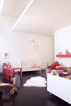 Modern nursery from Milk Magazine. Beautiful. A #CanDoBaby! fave.