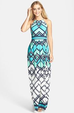 Eliza J Graphic Print Jersey Maxi Dress available at #Nordstrom