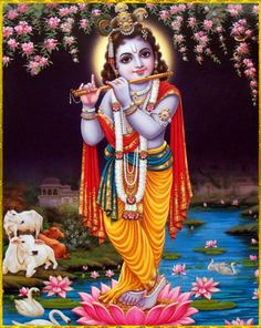 """""""Time and again I offer obeisances unto Sri Krishna, who is the son of Vasudeva, and the remover of His devotees' material attachments."""""""