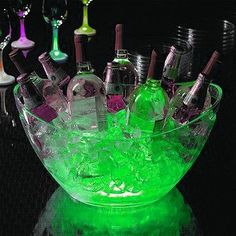 For parties, bury glowsticks in the ice!