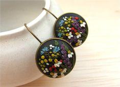 Flower Jewelry Flower Polymer Clay Earrings Spring by Floraljewel