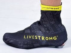2014 New Livestrong Black Mountain Bike Ciclismo Accessories Shoes Cover Cycle Overshoes MTB Bicycle Cycling Shoe Covers $19.60