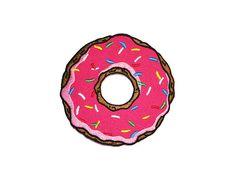 Donut-Eisen auf Patch Sticken Nähen DIY von ExtremeLargeness