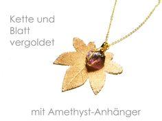 Kette Amethyst vergoldet von DeineSchmuckFreundin - Schmuck und Accessoires auf DaWanda.com