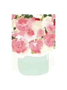 Peonies in Vase by kelli hall for Minted