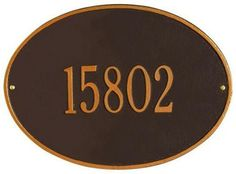 Hawthorne One-Line Estate Wall Address Plaque - estate/one line, Oil Rubbed Bronze by Home Decorators Collection. $88.99. Hawthorne One-Line Estate Wall Address Plaque - This Premium, Textured And Dimensional Wall Address Plaque Is Designed With Large Numbers For Maximum Visibility Outdoors. The Estate-Size Hawthorne Design Features A Sophisticated Oval Shape.Our Outdoor House Marker Is Built To Withstand The Elements. It Is Individually Handcrafted Of Hand-Ca...