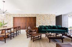 Cozinha com possibilidade de fechamento - Casa Lara,© Ricardo Bassetti