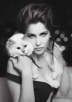 Laetitia Casta & Choupette by Karl Lagerfeld for V Magazine No. 78