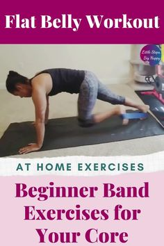 The best beginner band exercises for your core for women. Use these resistance band exercises for strengthen and tone your stomach and abs. This workout is perfect for weight loss and getting rid of that muffin top! Create that flat belly at home with a mini loop resistance band. #resistancebandworkouts #abworkoutsforbeginners Gym Workout For Beginners, Gym Workout Tips, Abs Workout For Women, At Home Workouts, Quick Workouts, Key To Losing Weight, Weight Loss, Lose Weight, Resistance Band Exercises