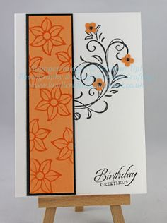 Falling Flowers class - Stampin' Up! Happpy Birthday, Happy Birthday Cards, Flower Stamp, Flower Cards, Scrapbook Cards, Scrapbooking, Hanukkah Cards, Washi Tape Cards, Purple Cards