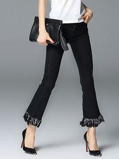 Black Casual Denim Jeans