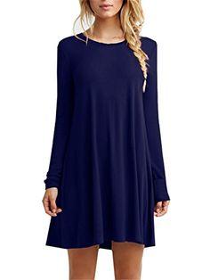 womens long sleeve tshirt dress; fall dress; autumn fashion {affiliate link}