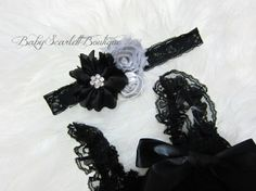 Black Baby Girl Lace Pettiromper with by babyScarlettBoutique, $22.50