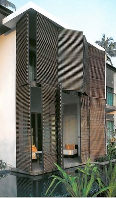facad wood shutter folding