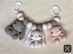 Crochet Baby Toys, Crochet Bunny, Crochet Patterns Amigurumi, Crochet For Kids, Crochet Animals, Baby Knitting, Knitting Patterns, Knit Crochet, Free Knitting