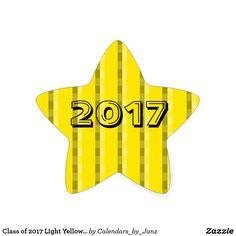Class of 2017 Light Yellow Star Sticker by Janz