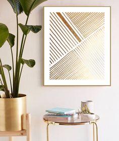 Modern Art Deco, Modern Wall Decor, Glam Living Room, Living Area, Gold Home Decor, Diy Home Decor, Austin Apartment, Mid Century Modern Bedroom, Union City
