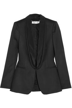 Stella McCartney | Melissa satin-trimmed wool tuxedo jacket | NET-A-PORTER.COM