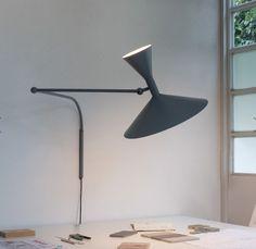 Lampe de Marseille designed by Le Corbusier for Nemo Lighting. The Lampe de Marseille's light in each conical diffuser can be used independently or… Le Corbusier, Home Lighting, Lighting Design, Casa Milano, Desk Lamp, Table Lamp, Deco Studio, Nemo, Wall Spotlights