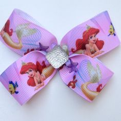 Princess Ariel Mermaid large Hair Bow Clip with by OliverandMay, $5.00
