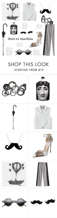 """""""Movember: deus ex machina"""" by yosifova ❤ liked on Polyvore featuring Fornasetti, Hunter, WithChic, Any Old Iron, René Caovilla, ZeroUV, Kate Spade, casual, contest and outfit"""