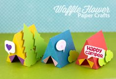 Free template and cut files for Summer Camp Tents (.studio & PDF) #Silhouette #CutFile #template
