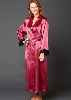 Le Tresor Full Length Silk Robe - Lace Trim. Julianna Rae. Wrap yourself ... a321ccb8f