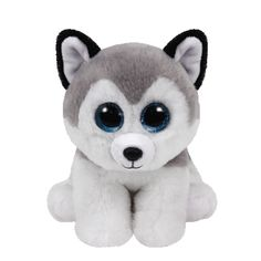 """<P><EM>The cooler weather is fune for me, I can fly down hills on my two skis!</EM></P><P>This TY beanie boo willl be a cuddly companion. Buff the husky dog has glittery blue eyes plus gray and white fur. Grow your collection with this small plush toy.</P><P><STRONG>Plush toy</STRONG> by <STRONG>TY</STRONG></P><UL><LI>Birthday: November 28th</LI><LI>6""""H</LI><LI>Part of the beanie boo collection.</LI></UL>"""