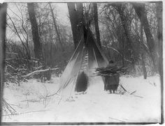 Winter--Apsaroke  via the Curtis (Edward S.) Collection  Native American Indian photo