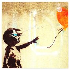BANKSY  There is always Hope, canvas wall art